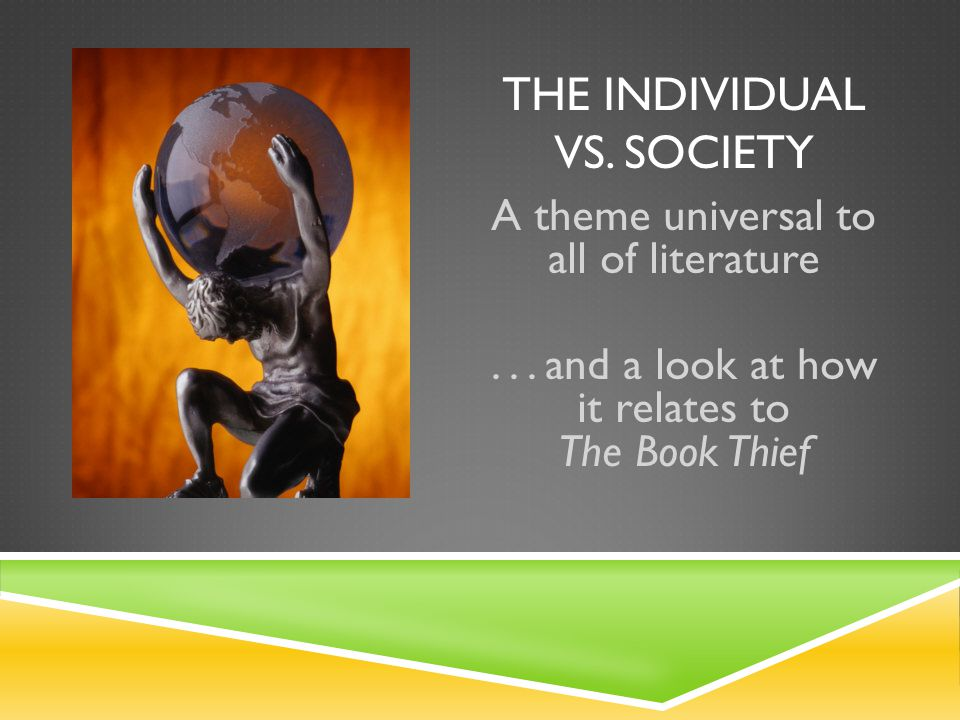 "essays on individual vs. society The relation between individual and society is very close essentially, ""society"" is the regularities, customs and ground rules of antihuman behavior these practices are tremendously important to know how humans act and interact with each other."