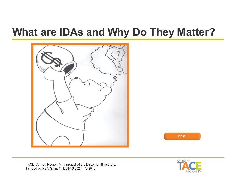Asset Development: IDAs Asset Development & Vocational Rehabilitation 30-Second Training Series