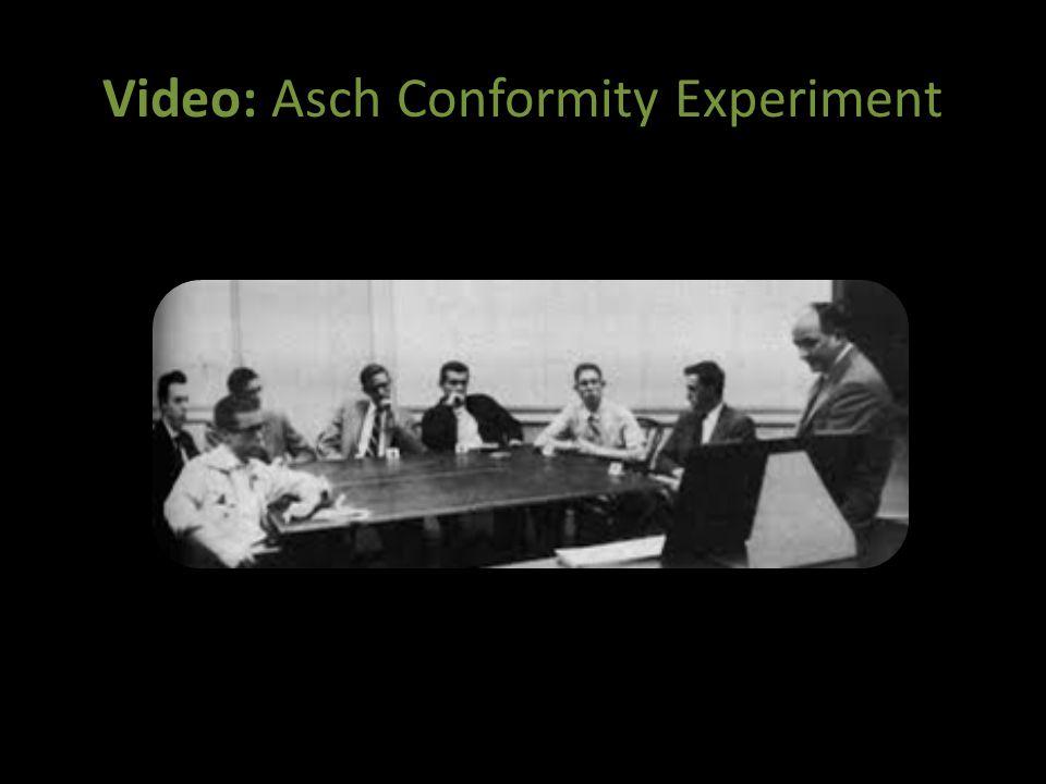 Video: Asch Conformity Experiment