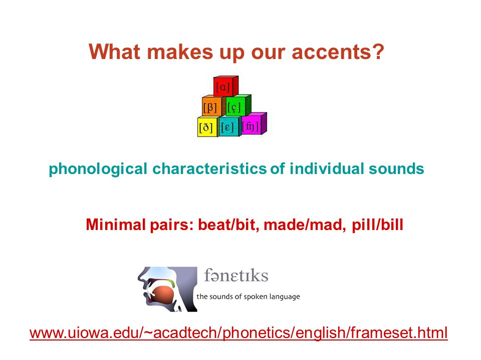 What makes up our accents.