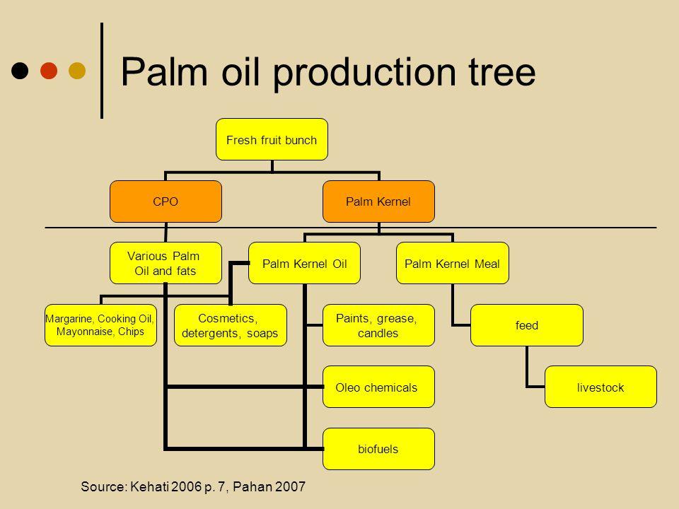 Palm oil production tree Source: Kehati 2006 p. 7, Pahan 2007