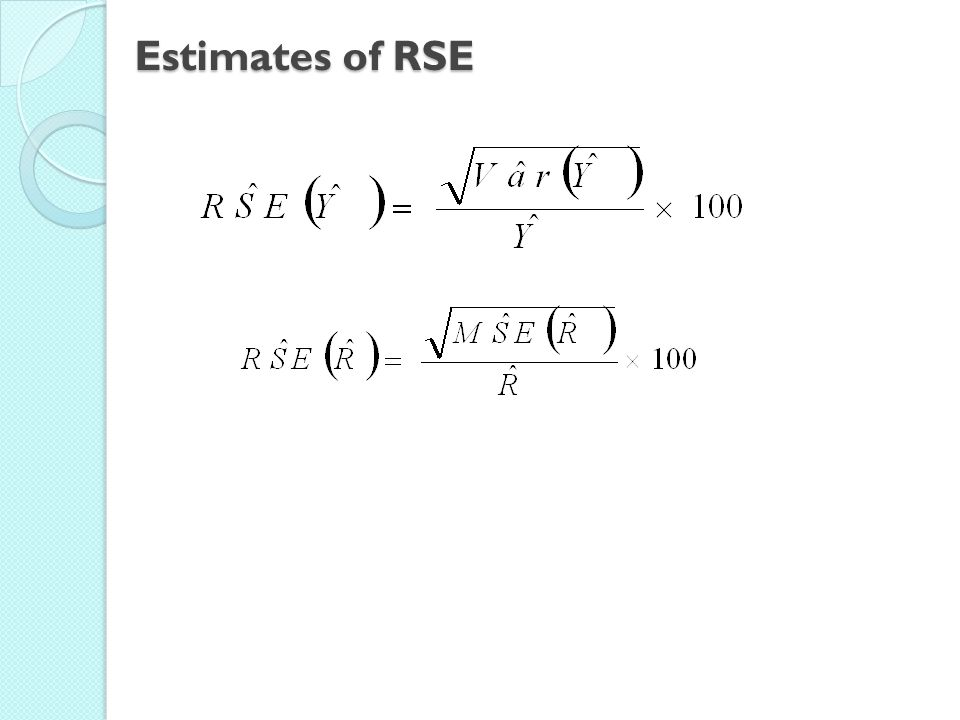 Estimates of RSE