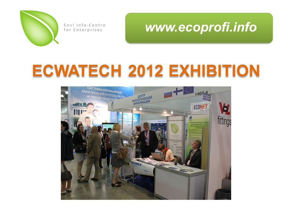 www.ecoprofi.info ECWATECH 2012 EXHIBITION