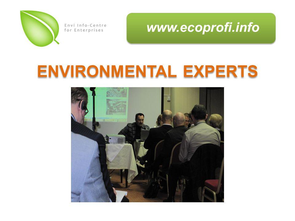 www.ecoprofi.info ENVIRONMENTAL EXPERTS