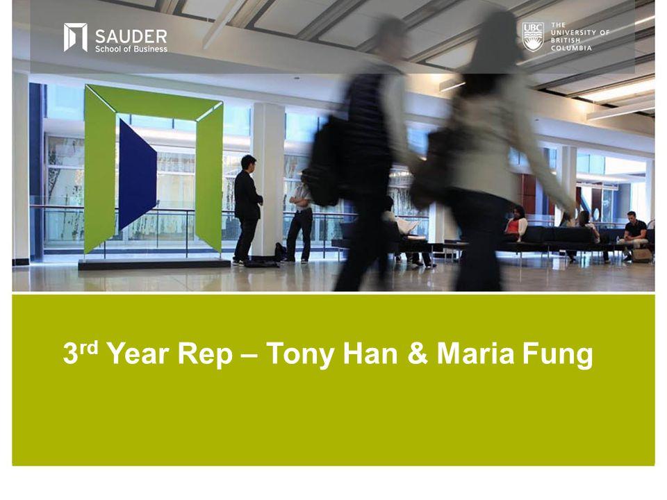 3 rd Year Rep – Tony Han & Maria Fung