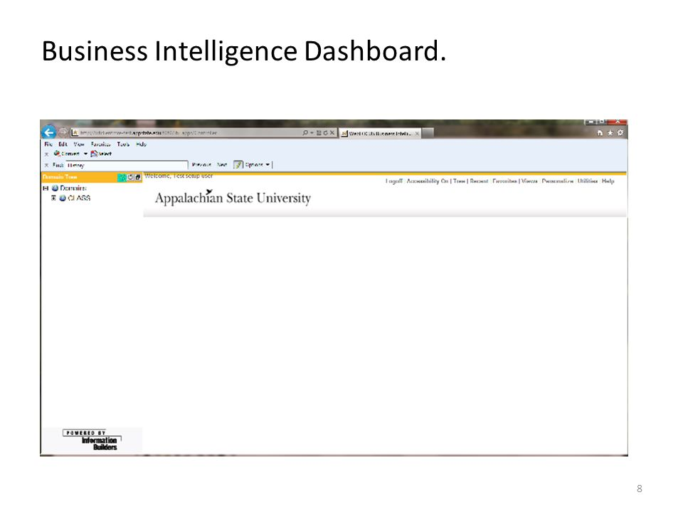 Business Intelligence Dashboard. 8