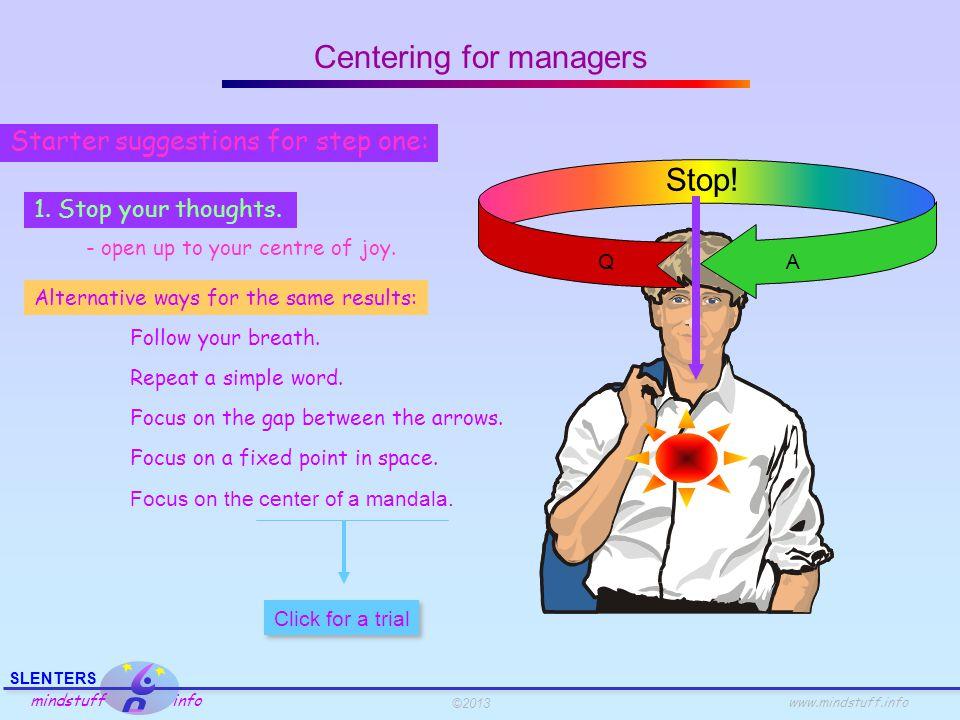 ©2013 SLENTERS mindstuff info www.mindstuff.info 1.