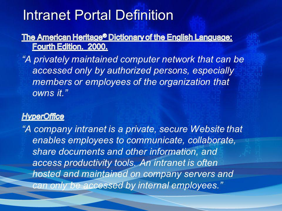 IntranetPortalDefinition Intranet Portal Definition