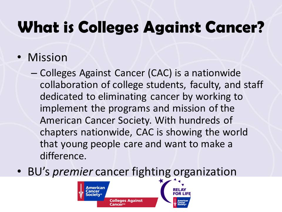 What is Colleges Against Cancer.