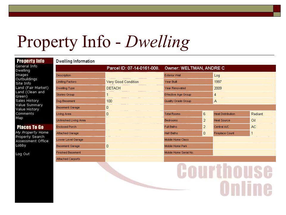 Property Info - Dwelling Dwelling Information