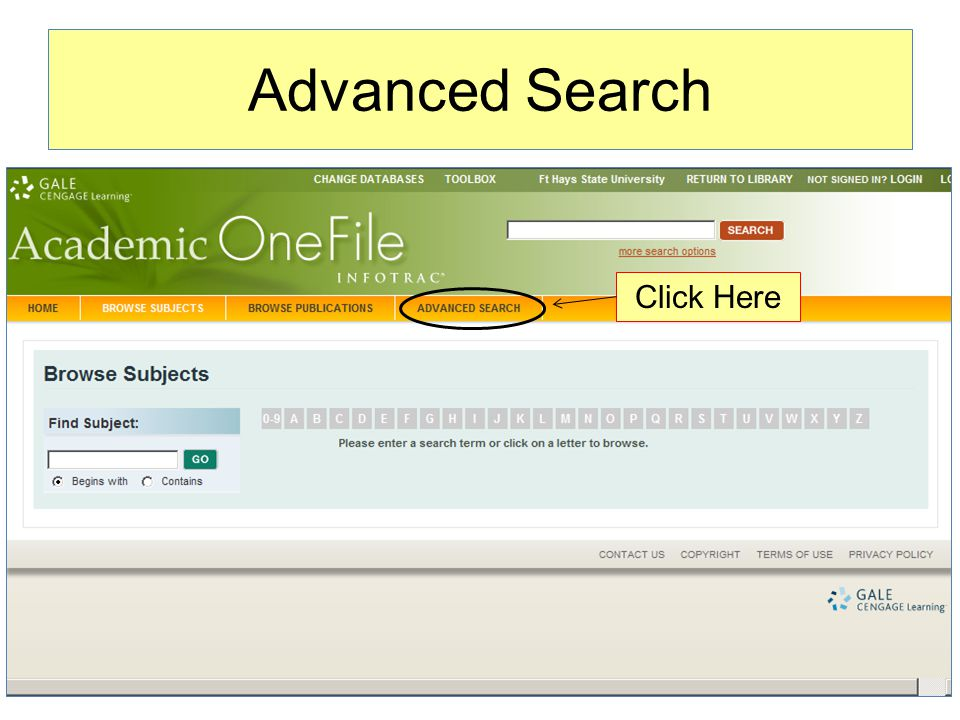 Advanced Search Click Here