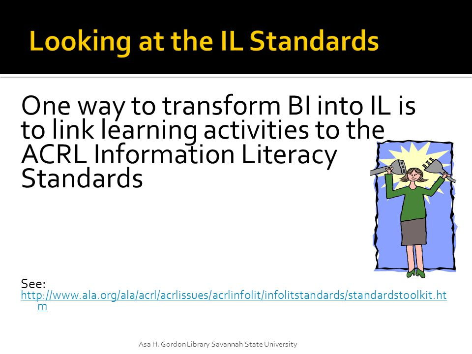 The information literate student, individually or as a member of a group, uses information effectively to accomplish a specific purpose. Students locate a list of reliable websites on a topic, and create brochure on that topic based upon information from those sites, and including the sites as further reading.