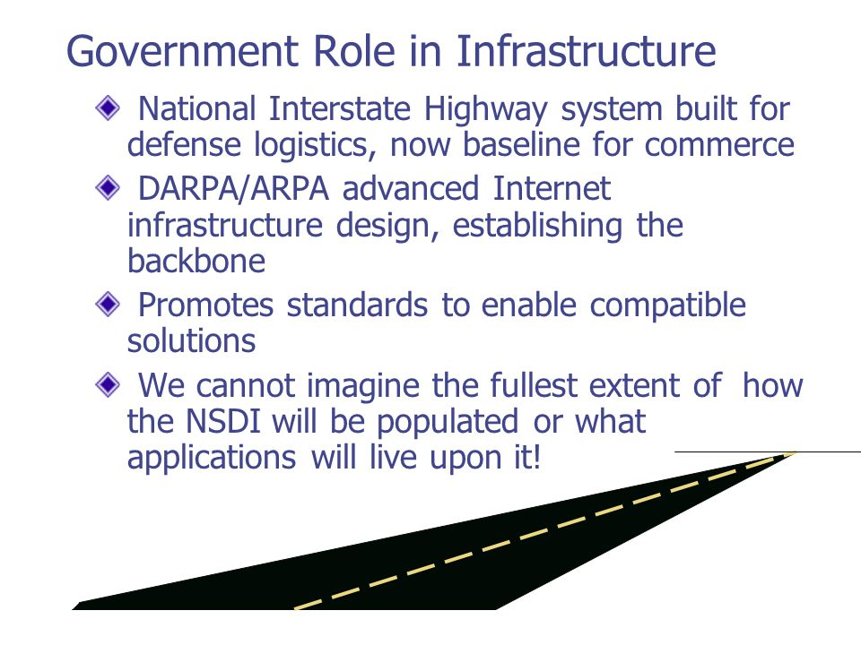 Roles of standards bodies OpenGISConsortium Software interfaces (Implementation Specifications) ISO TC 211 Foundations for implementation.