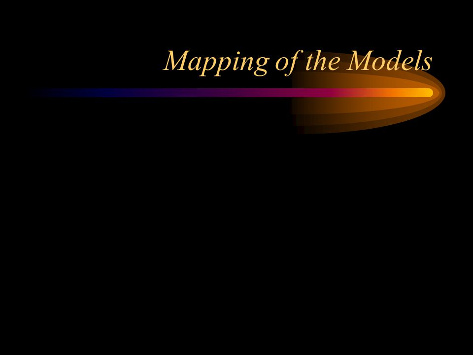 Mapping of the Models