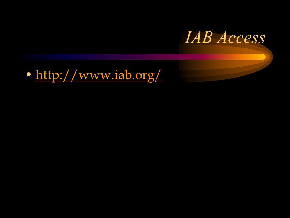IAB Access http://www.iab.org/