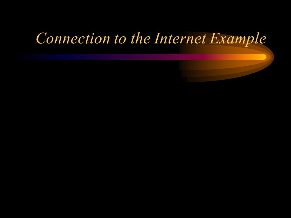 Connection to the Internet Example