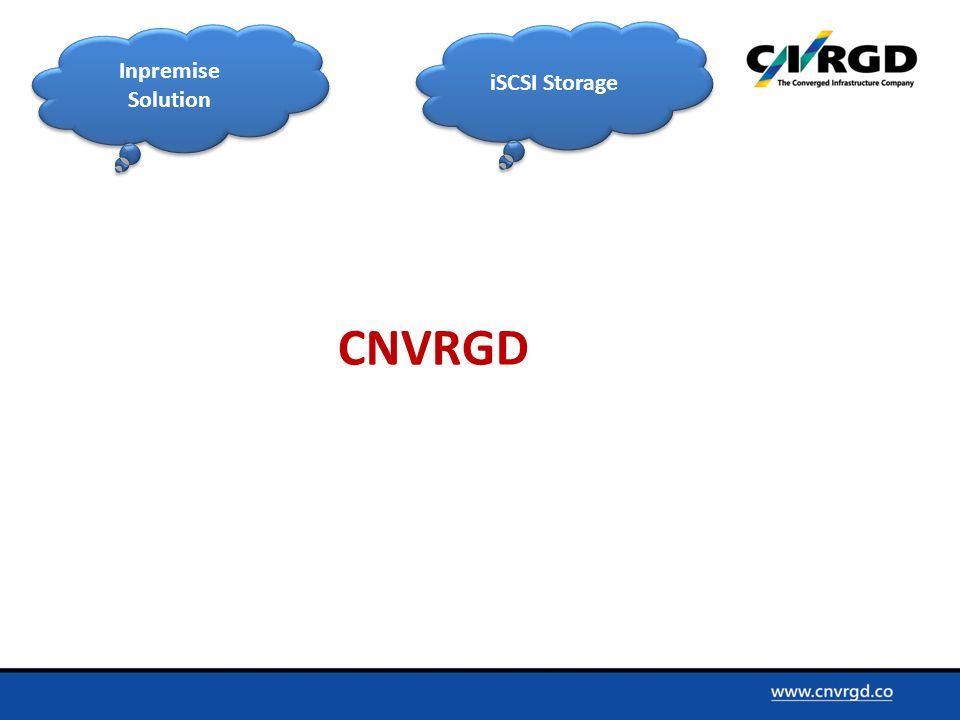 Inpremise Solution iSCSI Storage CNVRGD
