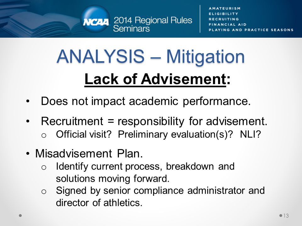 ANALYSIS – Mitigation Does not impact academic performance.