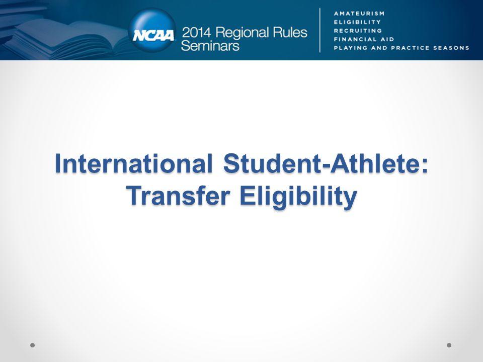 International Student-Athlete: Transfer Eligibility