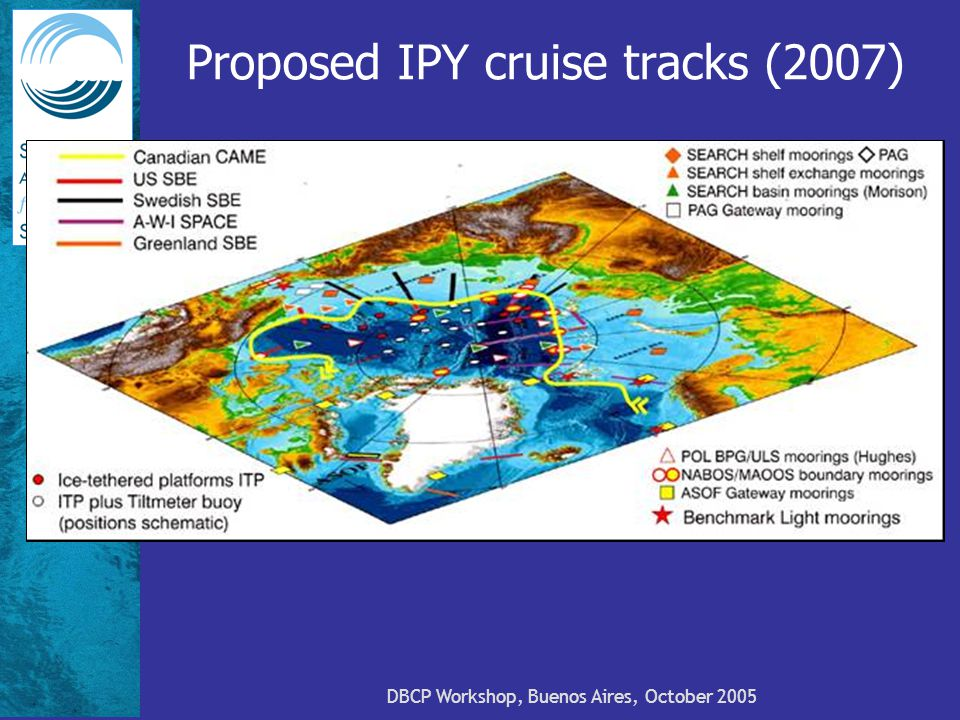 DBCP Workshop, Buenos Aires, October 2005 Proposed IPY cruise tracks (2007)