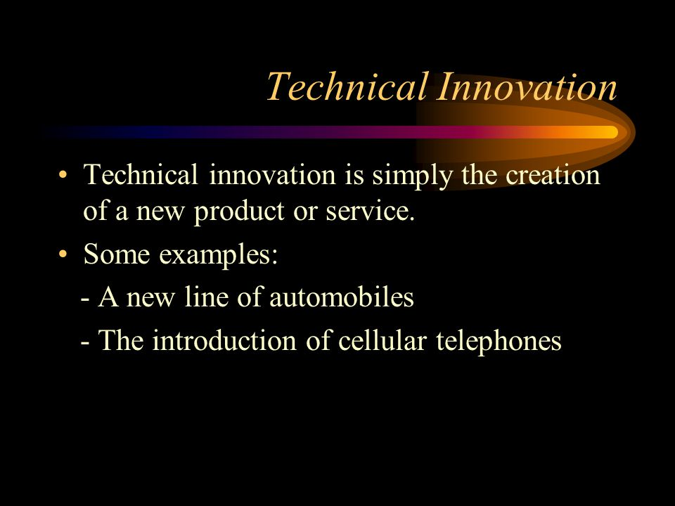 Process Innovation Process innovation is achieved through the creation of a new means of producing, selling, and/or distributing an existing product o