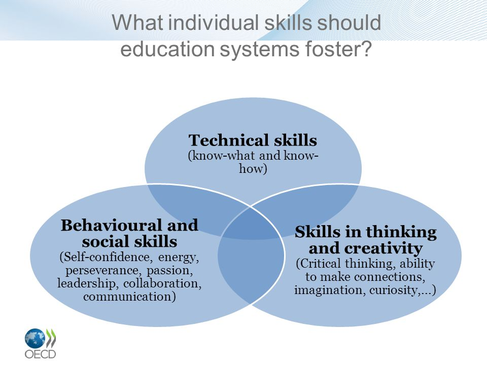 What individual skills should education systems foster.