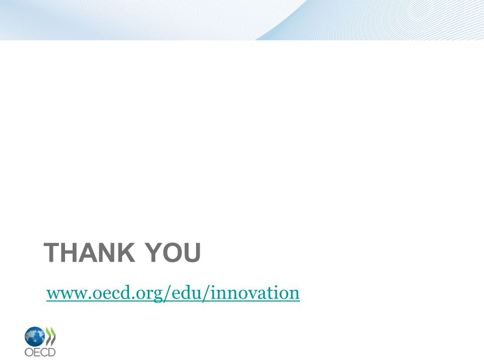 THANK YOU www.oecd.org/edu/innovation