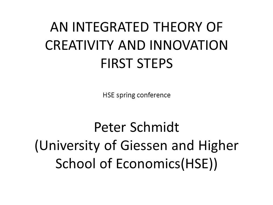 Table of Content 1.Introduction and Relevance 2.Some Tools: Theory construction and SEM 3.State of the Art and Selected Theories: 3.0 Routinization of Innovation Research 3.1.