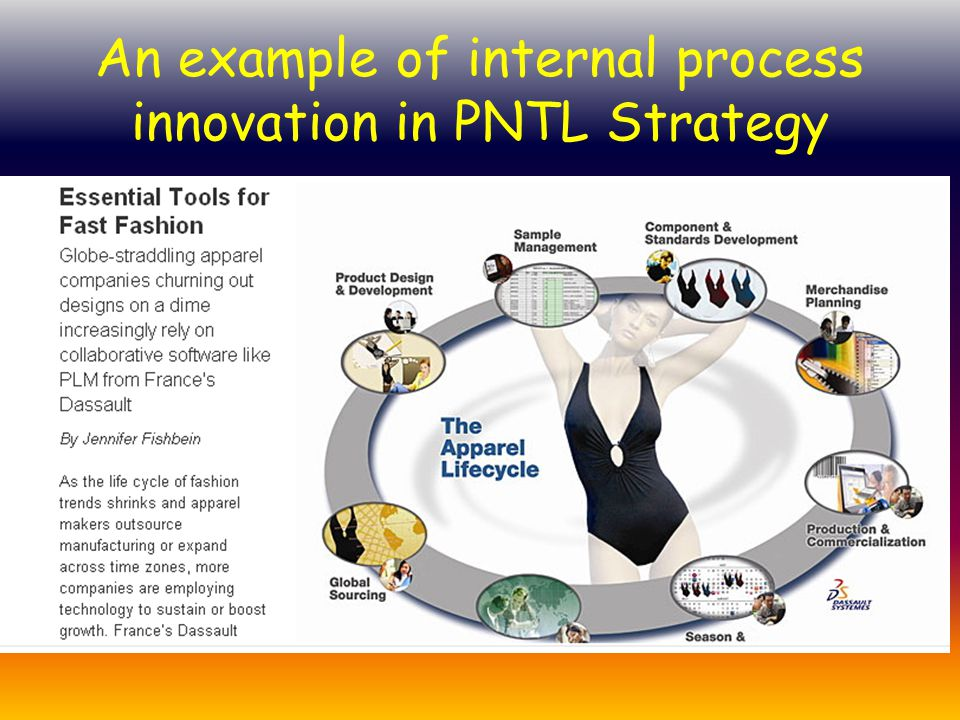 An example of internal process innovation in PNTL Strategy