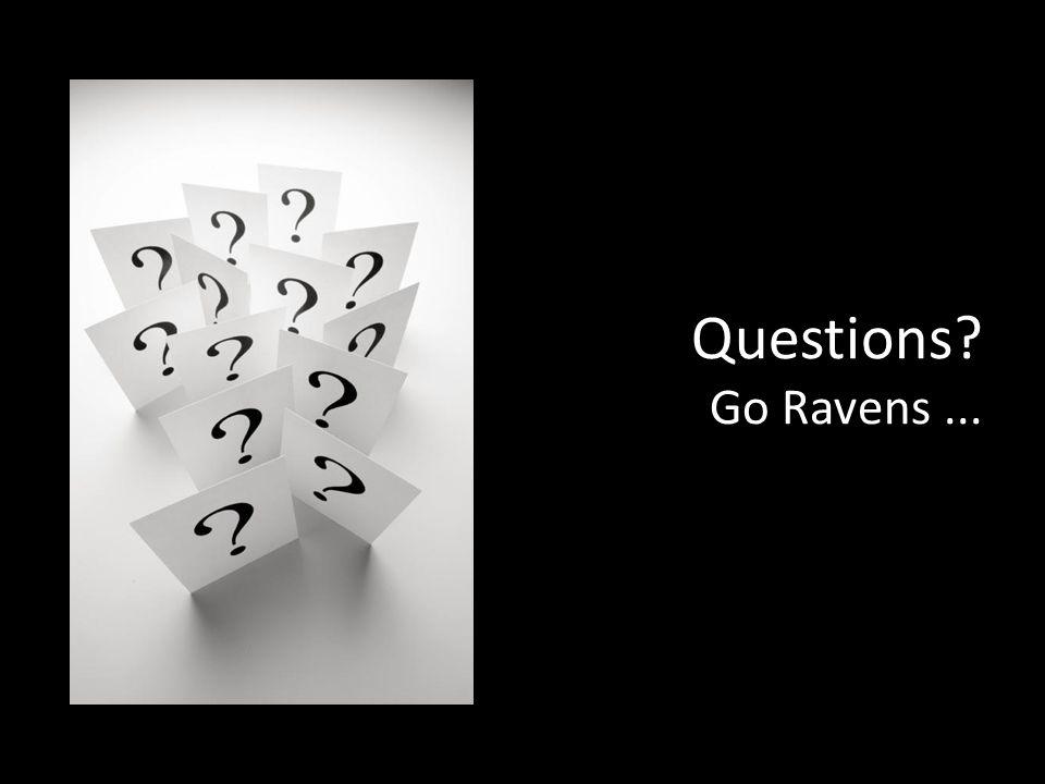 Questions Go Ravens...