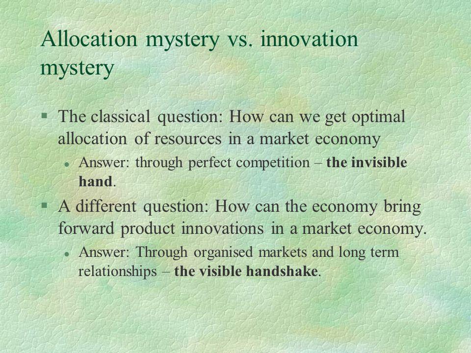Allocation mystery vs.