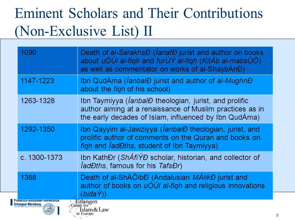 10 The Ottoman and Mughal Empires and Colonialism I 16 th centuryEstablishment of the office of shaykh al-islÁm as the highest-ranking religious-legal office in the Ottoman Empire; broad » legislation « on the basis of » qānūn nāmehs « 1703-1762ShÁh WalÐullÁh al-DihlawÐ (Indian reformer, theologian, ÎadÐth collector) c.