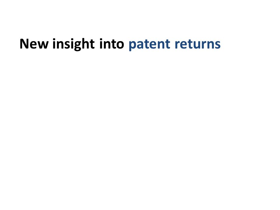 New insight into patent returns iour using matched UK data