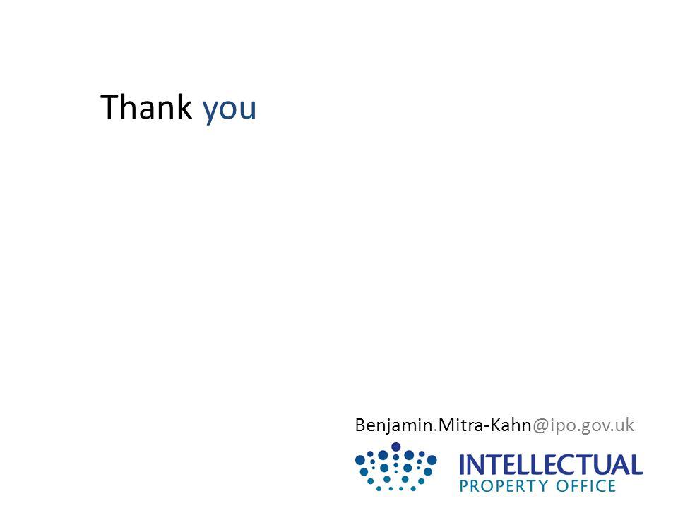 Thank you Benjamin.Mitra-Kahn@ipo.gov.uk