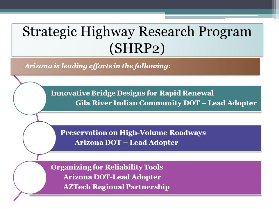 Strategic Highway Research Program (SHRP2) Innovative Bridge Designs for Rapid Renewal Gila River Indian Community DOT – Lead Adopter Preservation on