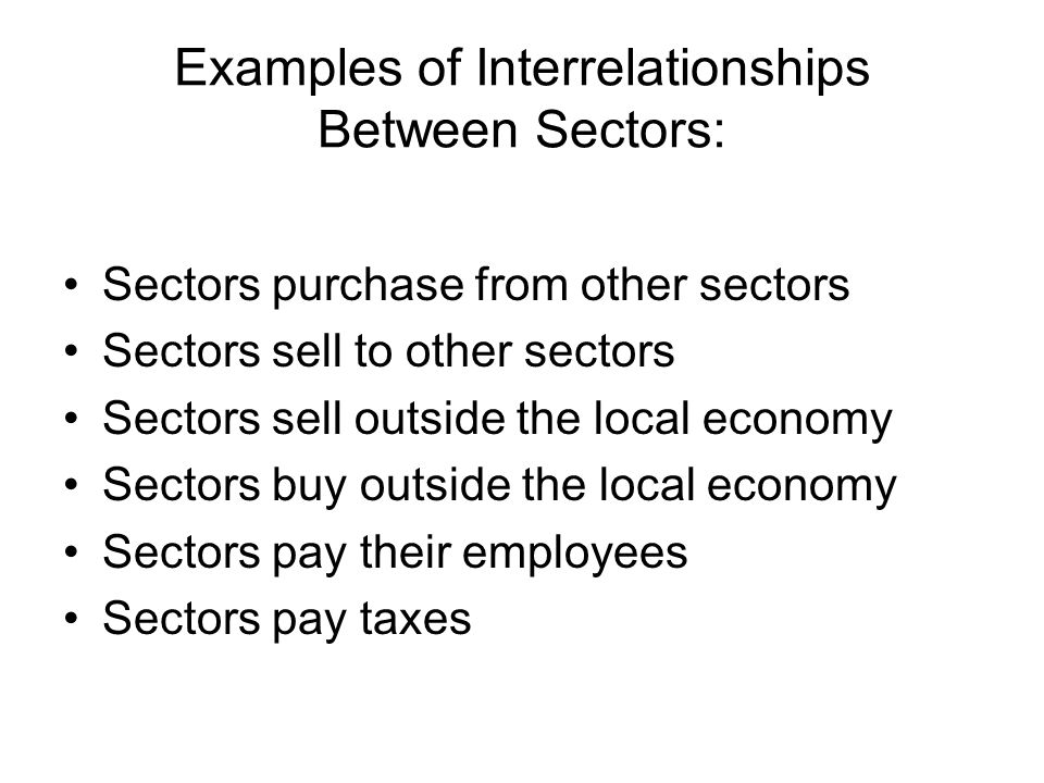 Households Industry Basic Services Goods & $ Inputs Products Inputs $$ $ $ Services $$ Labor Overview of Community Economic System
