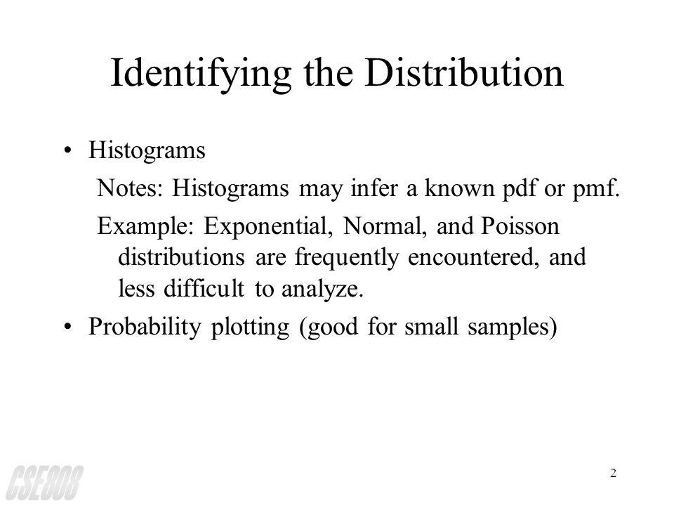 3 Sample Histograms (Figure 1) (1) Original Data - Too ragged Coarse, ragged, and appropriate histogram