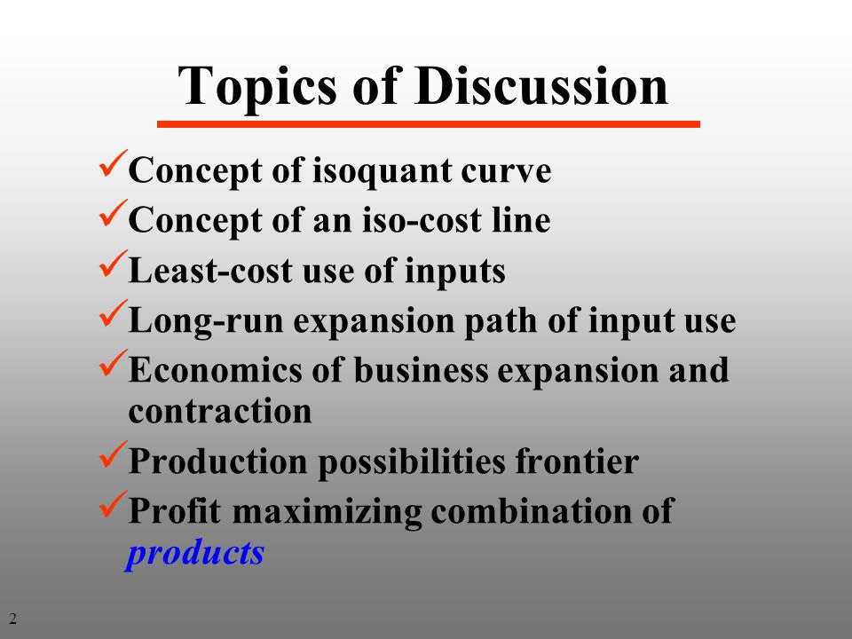 Page 113 On any point on this isoquant the firm is not spending available budget here On any point on this isoquant the firm is not spending available budget here What Inputs to Use for a Specific Budget.