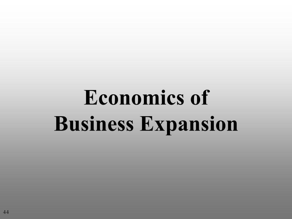 Economics of Business Expansion 44