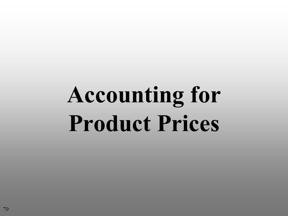 Accounting for Product Prices 79
