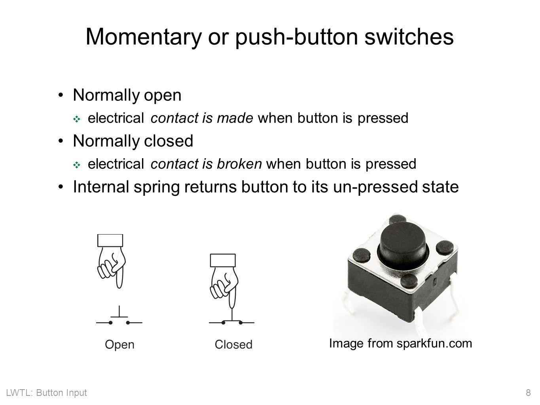 LWTL: Button Input 19 Interrupt handler for button input int button_interrupt = 0; // Interrupt 0 is on pin 2 !.