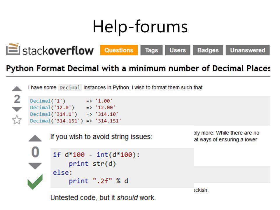 Help-forums
