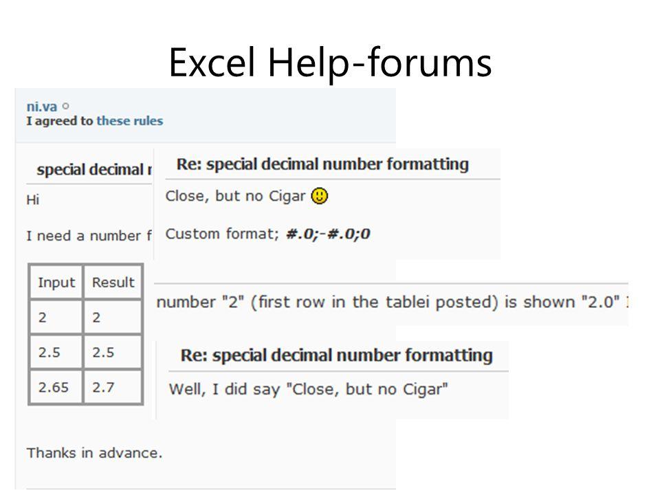 Excel Help-forums