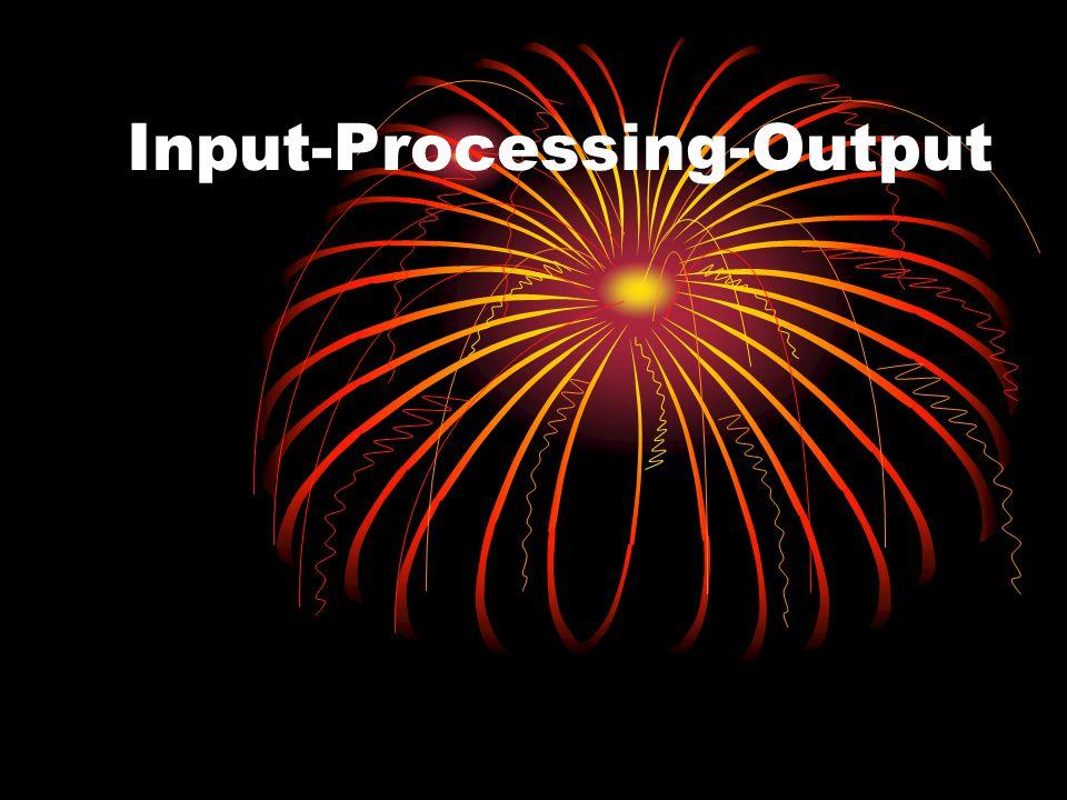 Input-Processing-Output