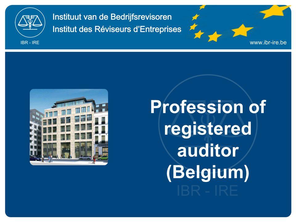 Profession of registered auditor (Belgium)