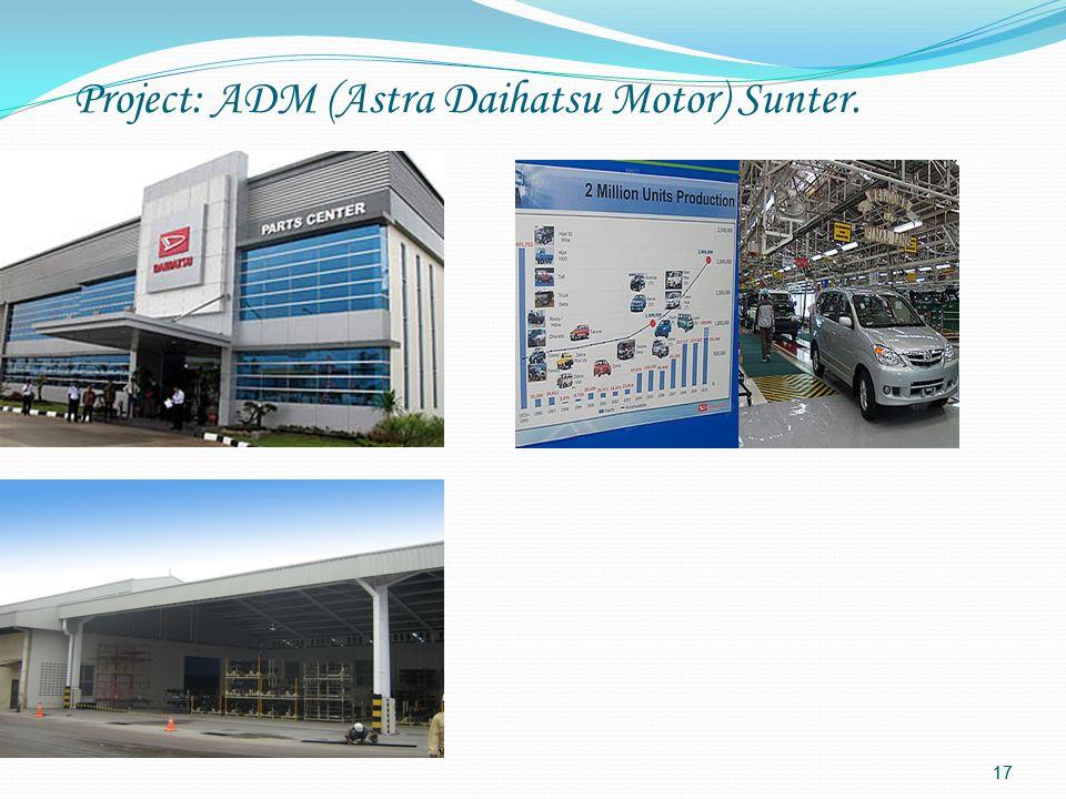 16 Project: ADM (Astra Daihatsu Motor) Sunter.