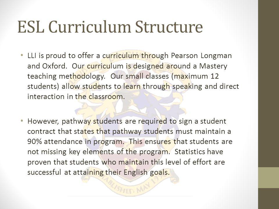 ESL Curriculum Structure