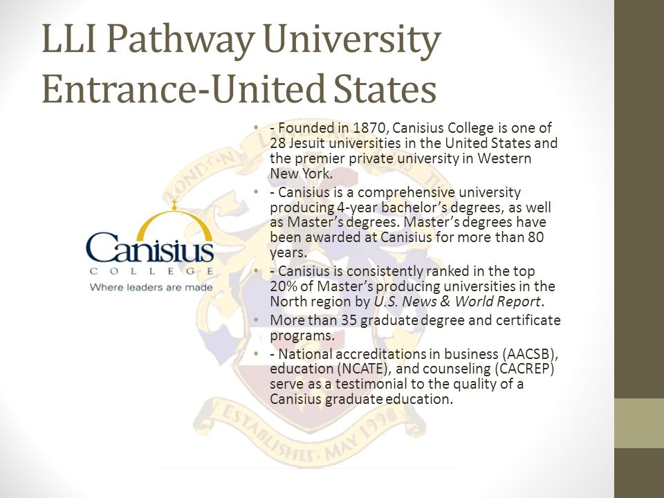 LLI Pathway College Entrance Program LLI is proud to be able to offer diploma and upgrading programs through our local partner Fanshawe College.