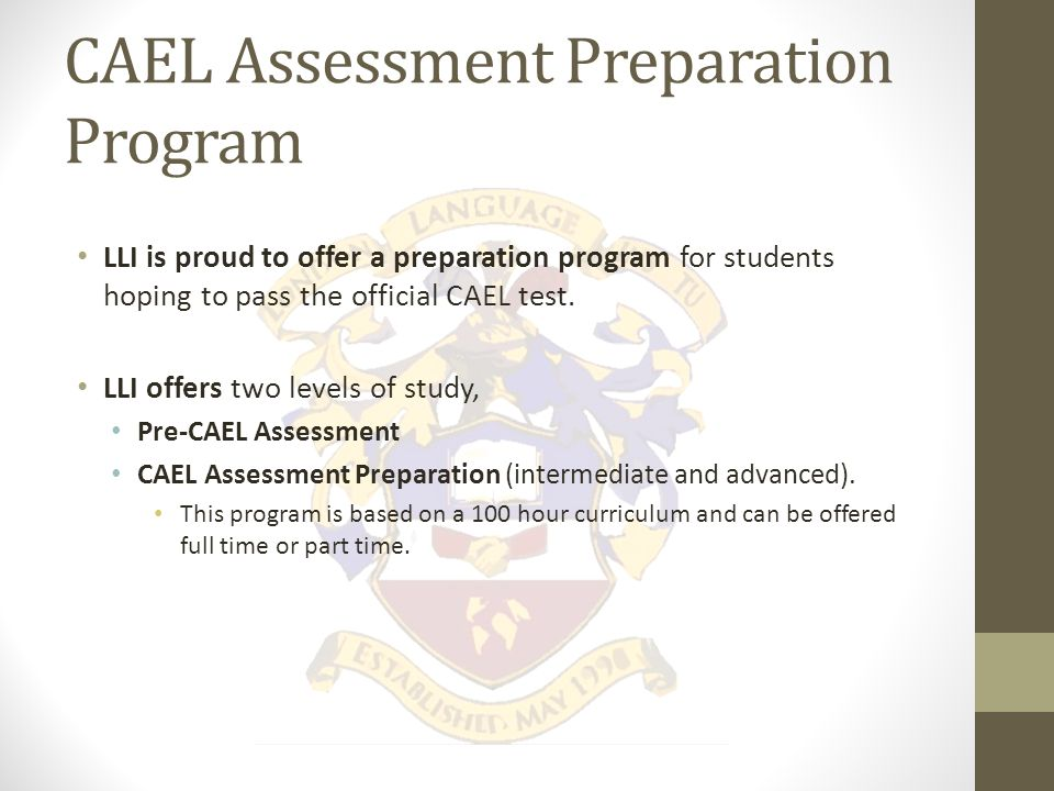What is the CAEL Assessment.