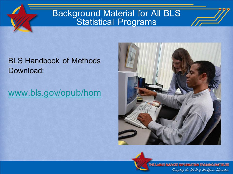 Background Material for All BLS Statistical Programs BLS Handbook of Methods Download: www.bls.gov/opub/hom